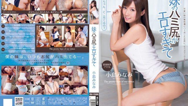 DV-1588 top jav Little Sis' Exposed Ass Is Too Sexy Minami Kojima