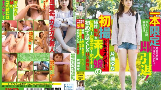 GDTM-113 streaming sex movies One Time Only Film – Instant Retirement! First Photos Documentary! A Pure & Innocent Amateur's First