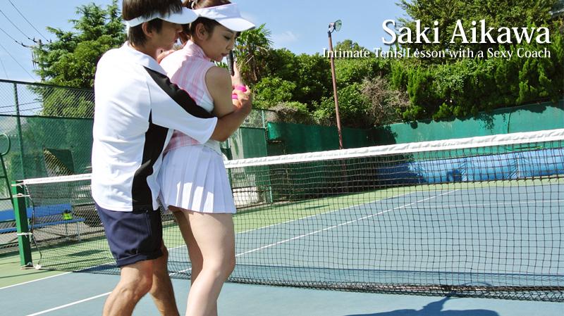HEYZO-0154 free jav Intimate Tenis Lesson with a Sexy Coach – Saki Aikawa