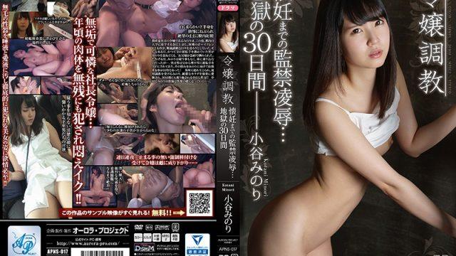 APNS-017 free japanese porn Minori Kotani Breaking In the Young Lady: Confinement, Torture & Rape of Minori Kotani, 30 Days of Hell Until She