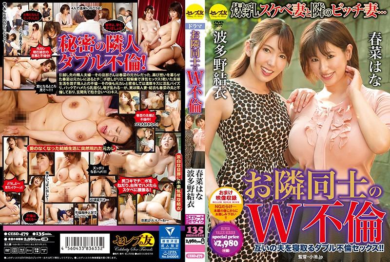 CESD-479 japan porn Double Adultery Between Neighbors Hana Haruna Yui Hatano