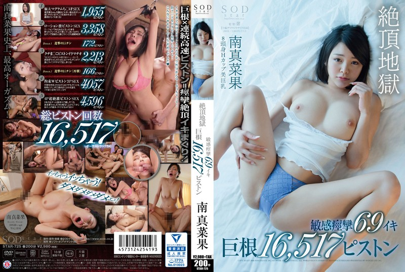 STAR-725 jjgirls Manaka Minami Climax Hell Sensual Spasms 69 Cum Shots Mega Cock 16,517 Piston Pumps