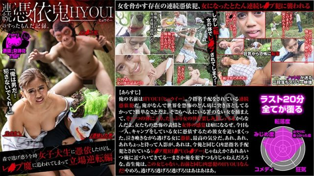 NTTR-040 xxx online Aisha Yuzuki Hyoui Is Possessed By A Horny Devil – A College Girl Runs Away Into The Woods, But When She Gets