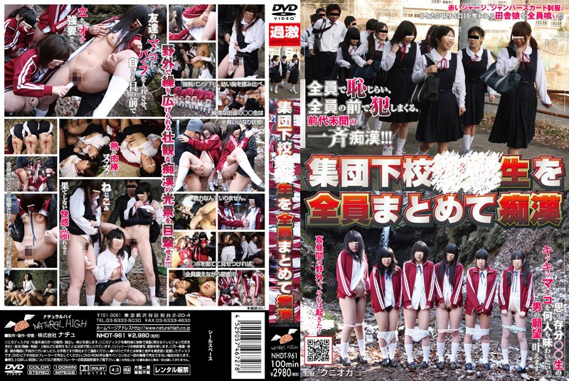 NHDT-961 jav hd porn Apartment Schoolgirls Molested All at Once