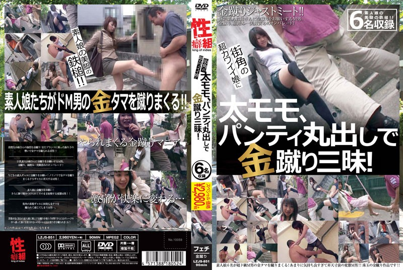 LZJS-851 asianporn Ultra Cute Girls On The Street Flash Their Thighs And Panties When Kicking Us In The Balls!